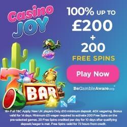 CasinoJoy Welcome Bonus