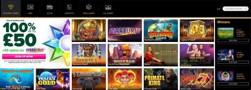 CasinoLuck casino game selection