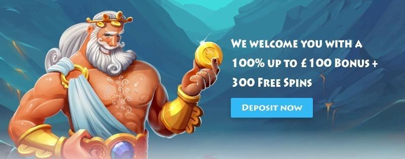 CasinoGods welcome offer display