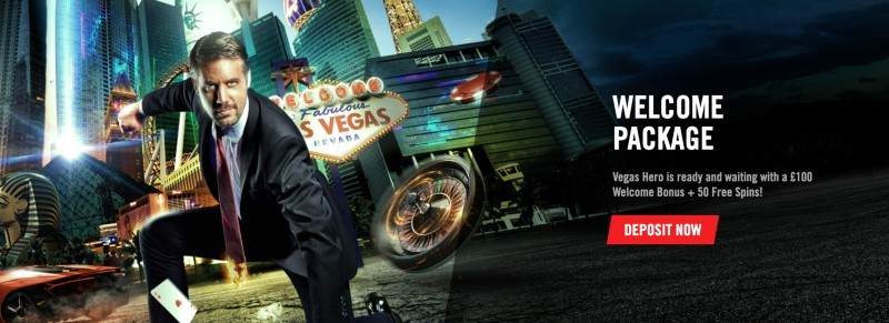 Artwork for welcome bonus at Vegas Hero casino