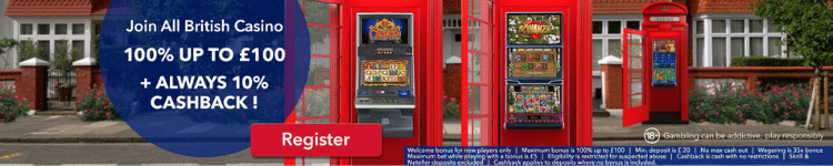 All British Casino - Welcome Bonus