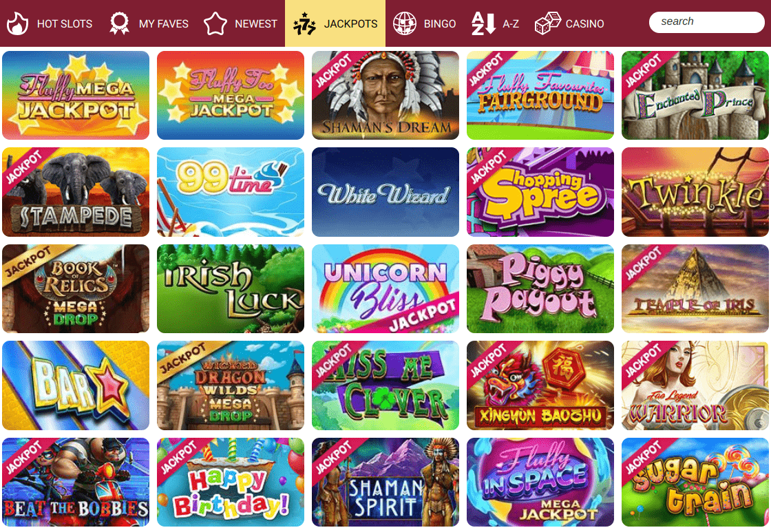 Online Casino London game selection