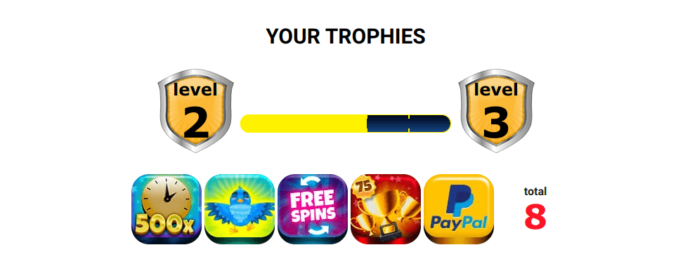 Online Casino London trophies