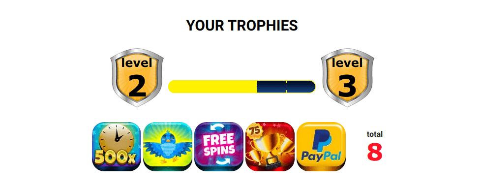 Online Casino London trophies