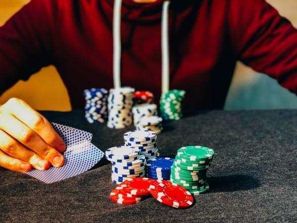Man playing legal poker