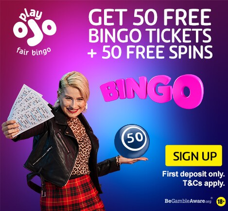 PlayOJO Bingo, free bingo tickets