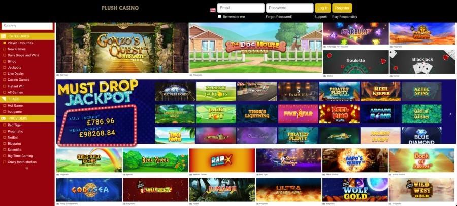 Plush Casino Game Selection