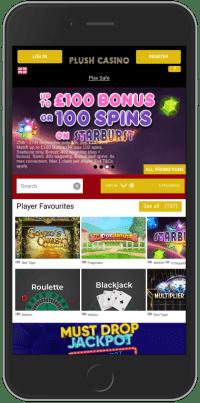 Plush Casino on Mobile Device