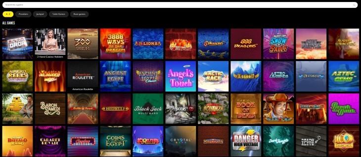 Rizk Casino Games