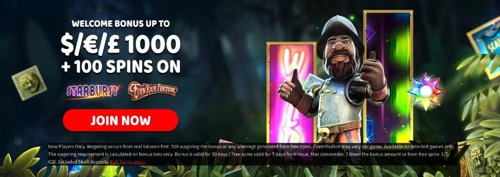 Spinzwin welcome bonus