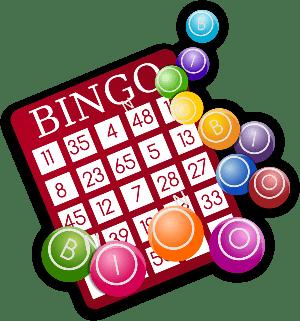 red bingo card