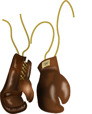 Brown boxing gloves