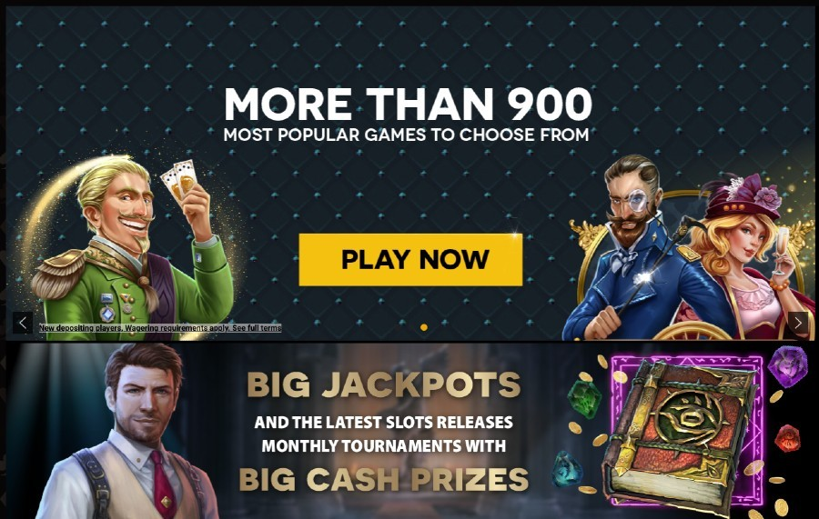 Screenshot of the home page of Lucky Thrillz