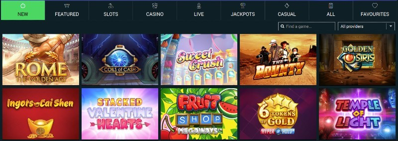 The Online Casino Game Selection