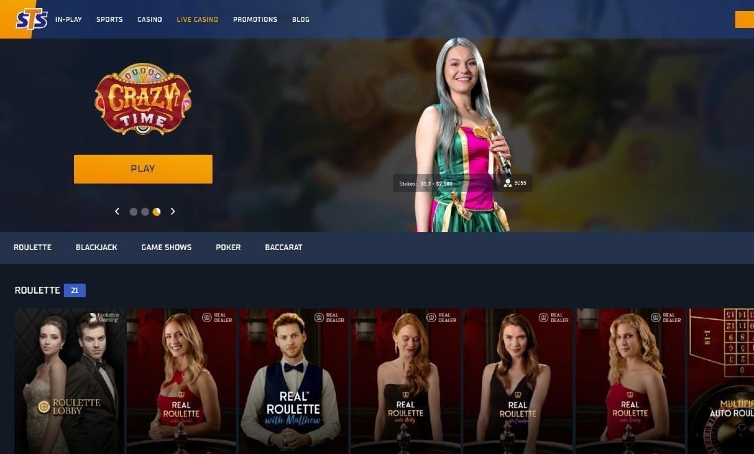 STS Live Casino screenshot