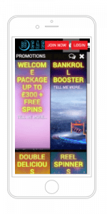 Preview of BBCasino on mobile