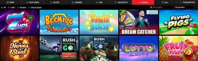 BritainBet casino selection