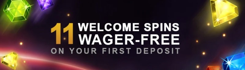 11 wager free spins at Videoslots