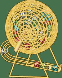 Bingo wheel drawing balls
