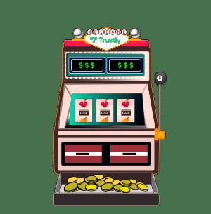 Slot machine with Trustly logo