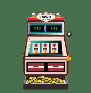 Slot machine with Boku logo