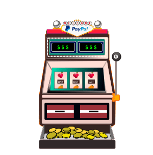 Slot machine with PayPal logo