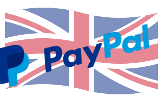 UK flag with PayPal logo