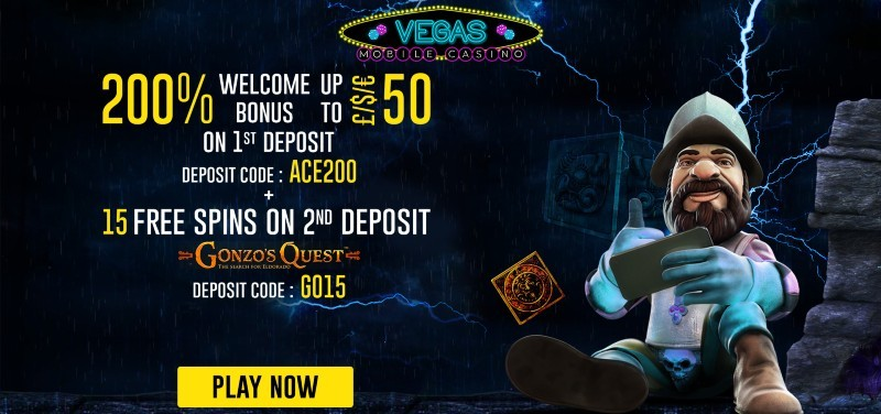Kabono exclusive welcome bonus at Vegas Mobile Casino